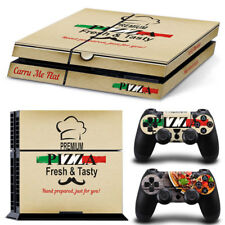 PS4 Playstation 4 Console Skin Decal Sticker Pizza Box + 2 Controller Design Set