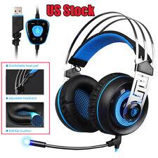 SADES A7 7.1 Stereo Surround Gaming Headset Headband MicHeadphone US Stock New
