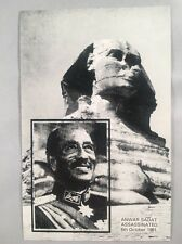 1981 Anwar Sadat Assassinated Egypt - Veldale Limited Edition Postcard