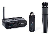 Shure SM57 micrófono y Alesis miclink Digital Enchufe en el sistema de micrófono inalámbrico