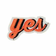 Yes Text Effect (Iron On) Embroidery Applique Patch Sew Iron Badge
