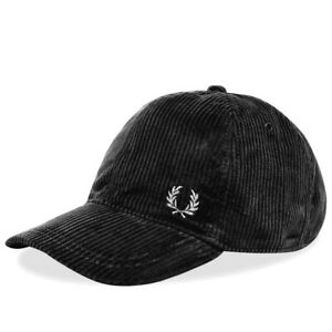 Fred Perry Corduroy Baseball Cap - RRP £40 - Deep Navy/Black - BNWT