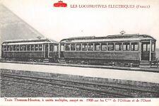 CPA THEME TRAIN LES LOCOMOTIVES ELECTRIQUES TRAIN THOMSON HOUSTON