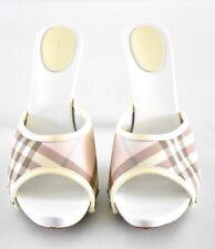 Burberry Pink Nova Check Sandal Heels Sz 40