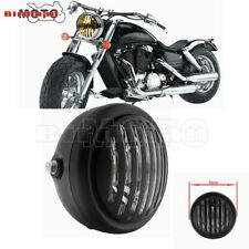 Motorcycle Headlight Finned Grill Hi/Lo For Harley Chopper Bobber Cafe Racer new