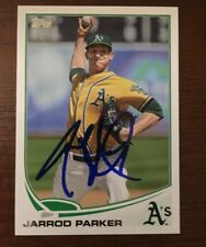 JARROD PARKER 2013 TOPPS AUTOGRAPHED SIGNED AUTO BASEBALL CARD 211 A'S