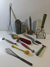 lot of 12 vintage old Kitchen Utensils tools  cookware farm country decoration