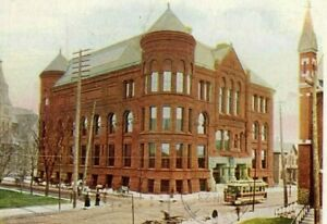 Postcard Antique View of Public Library in Minneapolis, MN.        Q6