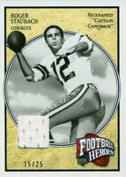 2006 UPPER DECK FOOTBALL HEROES - ROGER STAUBACH - GAME USED JERSEY RSJ-7 #15/25