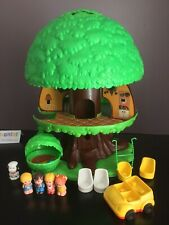 Vintage 1975 Tree Tots Treehouse Playset with Figures & Dog Stairs Intact