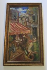 FINEST MOGENS VANTORE PAINTING ABSTRACT IMPRESSIONIST ANTIQUE MODERNISM LISTED