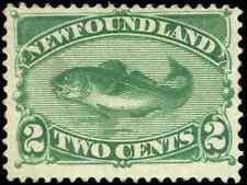 Newfoundland #47 mint F-VF NG 1896 Codfish 2c green CV$125.00