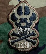 K9 & CROSSBONES KILLER ATTACK DOG ARMY MORALE ISAF FOREST HOOK PATCH