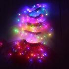 Luminous Light Led Kids Girl Tulle Tutu Skirt Party Dress Ballet Dance Wear Xmas