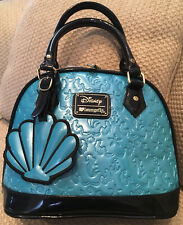 DISNEY LOUNGEFLY LITTLE MERMAID PURSE SATCHEL LIMITED EDITION SHELL ARIEL RARE