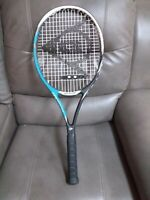 "DUNLOP FLUX 100 TENNIS RACKET 27"" GRAPHITE VIBROTECH 9.1oz HYDRAMAX CUSHION GRIP"