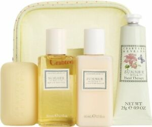 crabtree evelyn summer hill lotion, soap gel travel  no bag