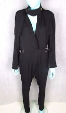 GUCCI SIZE 36 OR 6-8 UK BLACK SILK JUMPSUIT AUTHENTIC