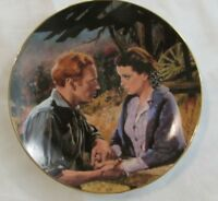Gone with the Wind collector's plate 1988 Scarlett and Ashley After the War..NIB