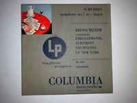 Rare- Bruno Walter Conducts Schubert Symphony #7 in C Major Vinyl Record ML4093