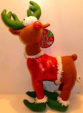 Red Nosed Reindeer Christmas Plush! Sugar Loaf! New!