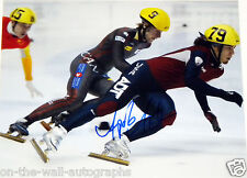 APOLO OHNO HAND SIGNED AUTOGRAPHED OLYMPIC RECORD BREAKING 11X14 PHOTO PROOF+COA