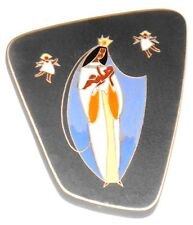 Vintage Madonna & angels RUSCHA German Ceramic Wall tile mid century 60's 70's