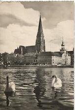 Alte Postkarte - Schwerin - Pfaffenteich mit Dom