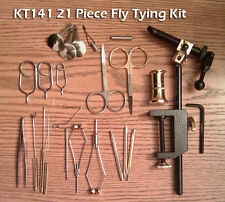 21 Peice Fly Tying Tool Kit  w/Rotating  Vise - Premium Scissors - KT141