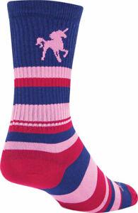 SockGuy Unicorn Crew Socks | 6 inch | Pink | S/M