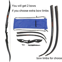 "Toparchery 56"" Hunting Takedown Recurve Bow Alloy Riser Right Hand OR Bow Limbs"