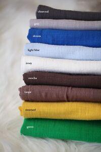 Cotton Linen Natural Fabric, Baby Textured Backdrop Newborn Wrap Photo Prop