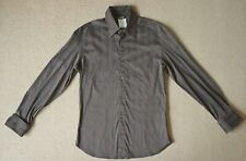 D&G Dolce&Gabbana mens shirt, M, slim fit, brown, double cuff, made in Italy
