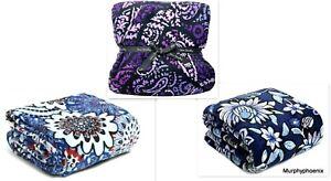 """Vera Bradley Throw Blanket  80"""" x 50"""" NWT MSRP $59 (12408) Choose Pattern"""