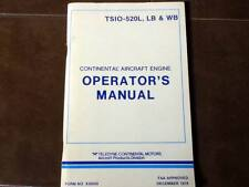 Continental TSIO-520L, LB and WB Series Engine Operator's Manual