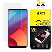 [2 Pack] Khaos For LG V30 Plus /V30s Plus ThinQ  Tempered Glass Screen Protector