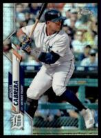 2020 Topps Chrome Base Prizm Refractor #6 Miguel Cabrera - Detroit Tigers