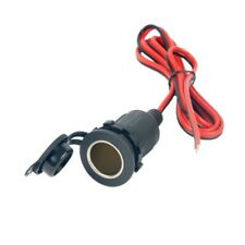 12/24V DC Car Cigarette Lighter Female Socket Connector Adapter Cable Waterproof
