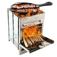 GRILL Rack Portable Outdoor Stainless Steel Kitchen Pan Camping BBQ Cookware