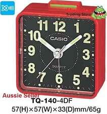 CASIO ALARM DESK CLOCK TQ-140-4DF TQ140 TQ-140 12-MONTH WARANTY