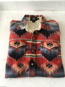Men's RRL Ralph Lauren Navajo Indian Aztec Shirt - Size Medium