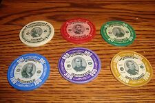 #6 Six  $1,$5,$20,$100,$500,$1000 Poker Chips Golf Ball Marker - Card Guard