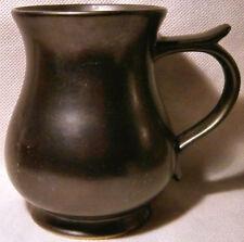 Prinknash Pottery Dark Brown Coloured Mug-Style Tankard