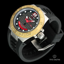 Invicta 45mm Mid-Size Subaqua Sport Swiss Made Carbon Fiber Dial Strap Watch