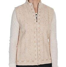 Woolrich - XS - NWT - Oatmeal Flecked Full Zip - Wool Blend Sweater Vest