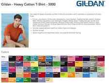 20 Blank Gildan Heavy Cotton T-Shirt XXL Wholesale Bulk Lot ok to mix Colors 2XL