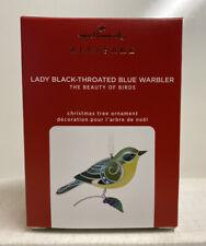 2020 Hallmark Lady Black Throated Blue Warbler Limited Edition Ornament
