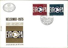 Ersttagsbrief FDC First Day Cover Helsinki Stempel 1975 Jugoslavija Marken drauf