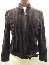 WORTH BROWN CHENILLE ZIPPERED FRONT JACKET SIZE SMALL