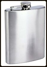 Flask 8oz Stainless Steel Liquor Pocket Hip Flask Screw Cap New